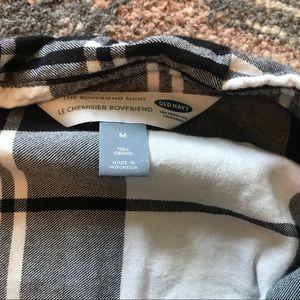 Old navy boyfriend flannel size medium
